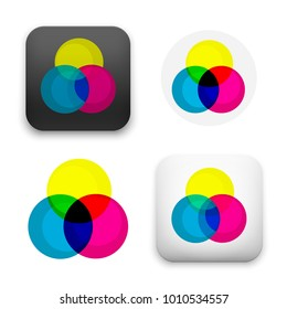 flat Vector icon - illustration of RGB colors icon