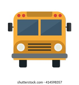 flat Vector icon - illustration of School Bus icon isolated on white