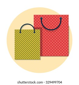 flat Vector icon - illustration of shopping bag icon isolated on white