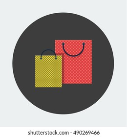 flat Vector icon - illustration of shopping bag icon