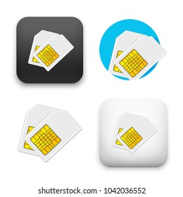 flat Vector icon - illustration of Sim card icon