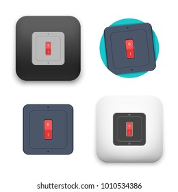 flat Vector icon - illustration of switch button