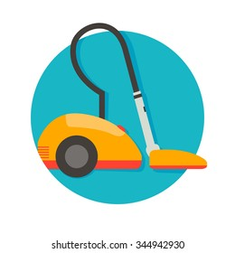 flat Vector icon - illustration of Vacuum cleaner icon isolated on white