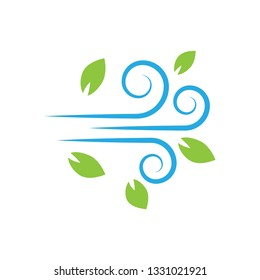 flat Vector icon - illustration of wind icon isolated on white - Vector