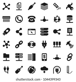 Usb To Rca Jack Wiring Hub Stock Vectors Images Vector Art Shutterstock Flat Icon Set Molecule Satellite Satellitie Social Media Link