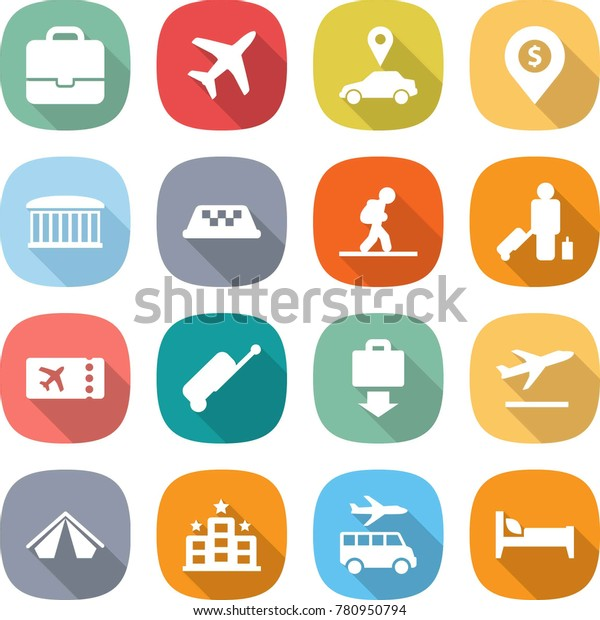 Flat Vector Icon Set Portfolio Vector Stock Vector Royalty Free 780950794