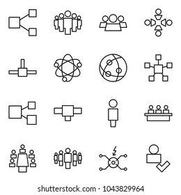 Flat vector icon set - share vector, group, friendship, connect, network, star, connection, user, meeting, spark distributor, check