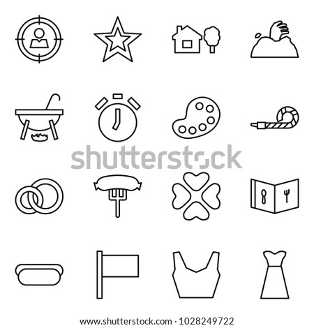 f0b55e4a Flat vector icon set - target audience vector, favorites, home and tree,  zombie, witch cauldron, alarm clock, palette, blower, rings, hotdog,  hearts, menu, ...