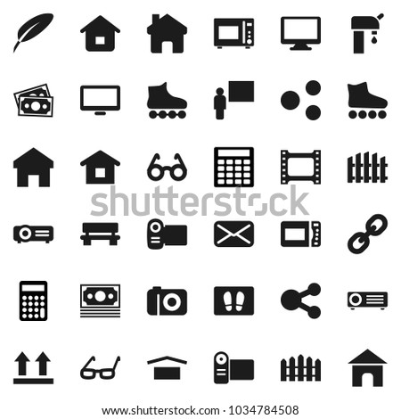 Flat Vector Icon Set Welcome Mat Stock Vector (Royalty Free