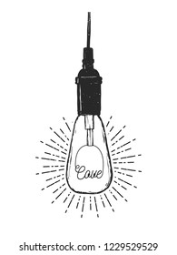 Flat vector illustration - Bulb love