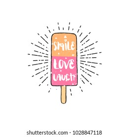 Flat vector illustration - ice cream