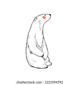 Flat vector illustration - Polar bear