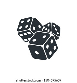 flat vector image icons on a white background, isometric image, gambling for everyone