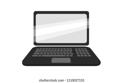 Flat vector image of a laptop