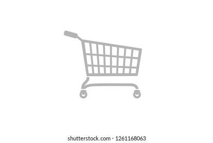 Flat vector image of a shopping cart