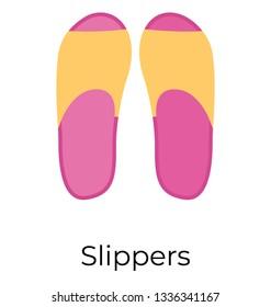 Flat vector ion of slipper,