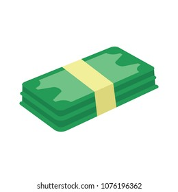 flat vector money icon -  banknote cash illustration - bill payment symbol