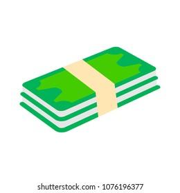 flat vector money icon -  banknote cash illustration - bill payment symbol