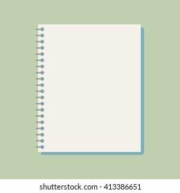 Flat vector notebook