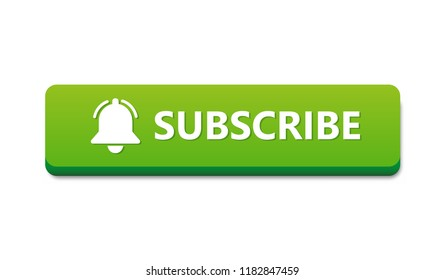 Flat vector subscribe button for video channel