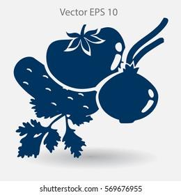 Flat vegetables icon