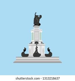 Flat version of the Monumento de Abertura dos Portos do Amazonas ao Comércio Mundial, Largo São Sebastião - Manaus/Amazonas - Brazil - Ilustração