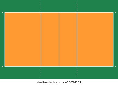 Volleyball court images stock photos vectors shutterstock flat volleyball gym field with line template vector stadium tactic board illustration toneelgroepblik Image collections