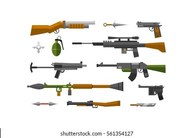 Flat weapons vector.