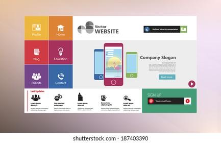 Flat Web Design Templates for website.