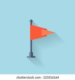 Flat web icon. Flag.