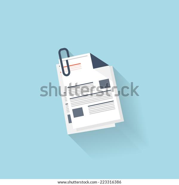 Flat web icon. News, blank.