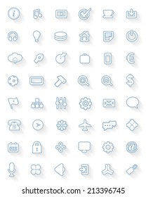 Flat Web Icons Set Collections