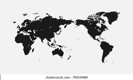Flat world map on light background stock illustration 1012501450 flat world map 1920 x 1080 pixels for interior design wallpaper cover gumiabroncs Gallery