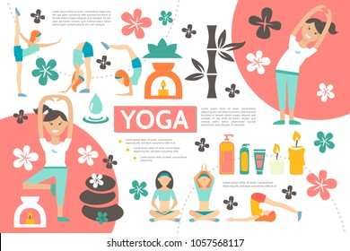 Flat Yoga Infographic Template