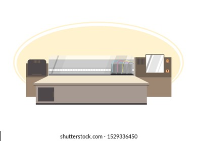 large format printer vector images stock photos vectors shutterstock https www shutterstock com image vector flatbed large format printer by vintage 1529336450