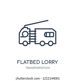 flatbed lorry icon. flatbed lorry linear symbol design from Transportation collection.