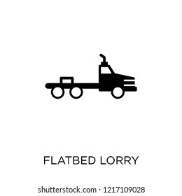 flatbed lorry icon. flatbed lorry symbol design from Transportation collection.