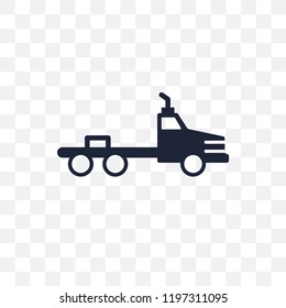 flatbed lorry transparent icon. flatbed lorry symbol design from Transportation collection.