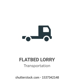 Flatbed lorry vector icon on white background. Flat vector flatbed lorry icon symbol sign from modern transportation collection for mobile concept and web apps design.