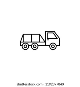 flatbed pickup icon. Element of construction machine icon for mobile concept and web apps. Thin line flatbed pickup icon can be used for web and mobile on white background