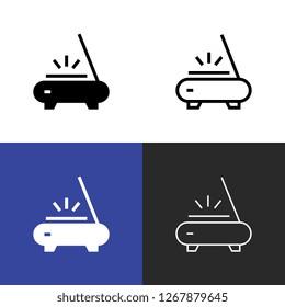 Flatbed Scanner Icon Set