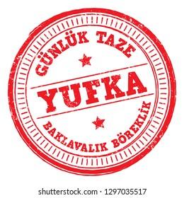 Flatbread (Yufka) Stamp in Turkish