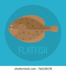 Flatfish flat icon