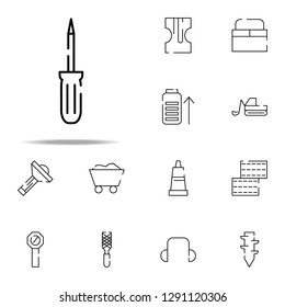 flathead screwdriver icon. construction icons universal set for web and mobile