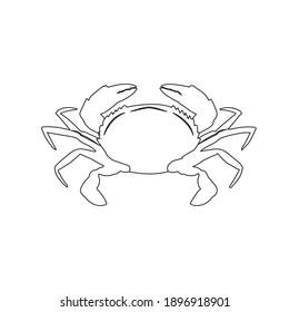 flaticon animal crab outline vector illustration