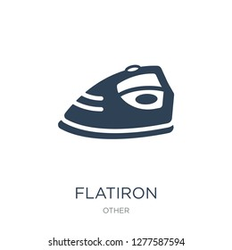flatiron icon vector on white background, flatiron trendy filled icons from Other collection, flatiron vector illustration