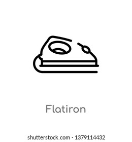 flatiron vector line icon. Simple element illustration. flatiron outline icon from other concept. Can be used for web and mobile
