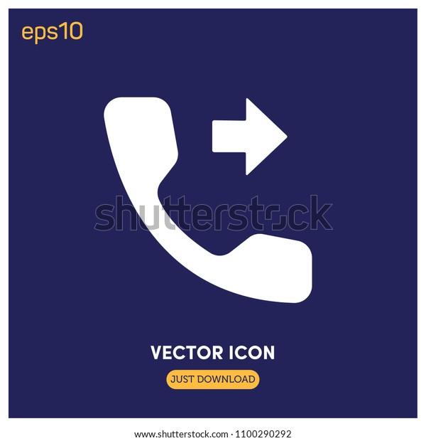 Flatmoderncreative Call Forward Symbol Vector Icon Stock
