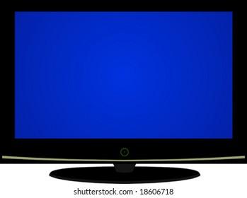 Flat-panel television set.