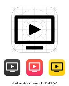 Flatscreen TV icon. Vector illustration.